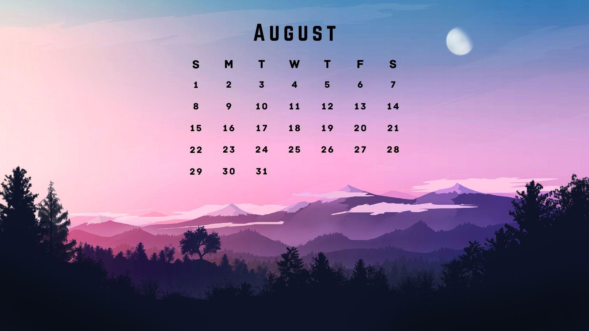 August 2021 Nature Calendar Wallpaper